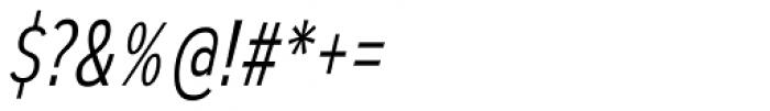 Autoradiographic Light Italic Font OTHER CHARS