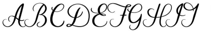 Autumn Embrace Regular Font UPPERCASE