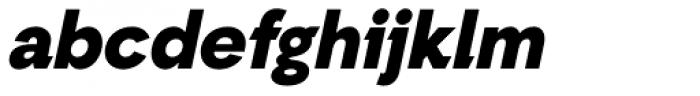 Auxilia Black Oblique Font LOWERCASE