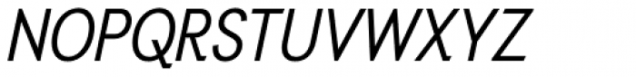 Auxilia Condensed Oblique Font UPPERCASE