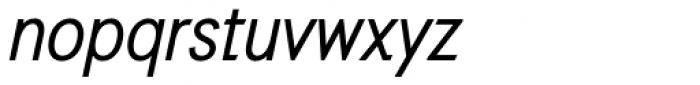 Auxilia Condensed Oblique Font LOWERCASE