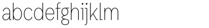 Auxilia Condensed Thin Font LOWERCASE