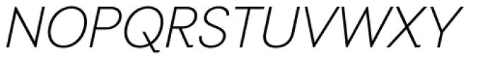 Auxilia Light Oblique Font UPPERCASE