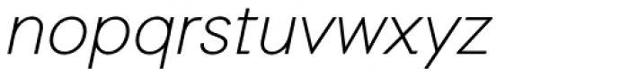 Auxilia Light Oblique Font LOWERCASE