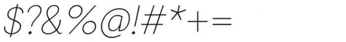Auxilia Thin Oblique Font OTHER CHARS