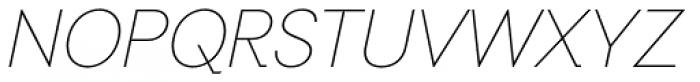 Auxilia Thin Oblique Font UPPERCASE
