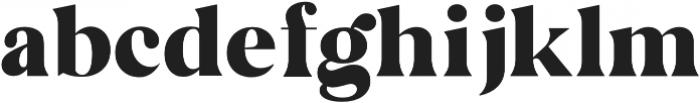 AVALANCHE - Regular otf (400) Font LOWERCASE