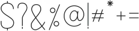 Avalore Ultra-light otf (300) Font OTHER CHARS