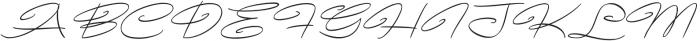 Avelana Thin Italic otf (100) Font UPPERCASE