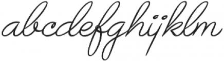 Avelana Thin Italic otf (100) Font LOWERCASE