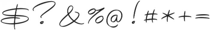 Avelana Thin otf (100) Font OTHER CHARS