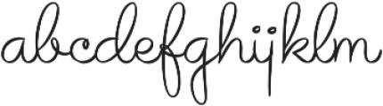Avelana Thin otf (100) Font LOWERCASE