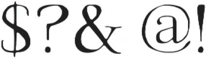 Avera  Light otf (300) Font OTHER CHARS