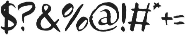 Avera Sans TC Brush otf (400) Font OTHER CHARS