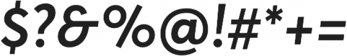 Averta CY Semibold Italic otf (600) Font OTHER CHARS