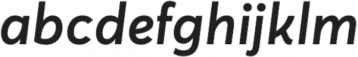 Averta CY Semibold Italic otf (600) Font LOWERCASE