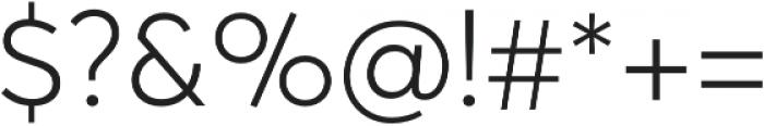 Averta Light otf (300) Font OTHER CHARS