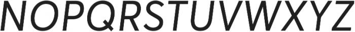Averta Regular Italic otf (400) Font UPPERCASE