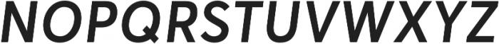 Averta Semibold Italic otf (600) Font UPPERCASE