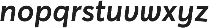 Averta Semibold Italic otf (600) Font LOWERCASE
