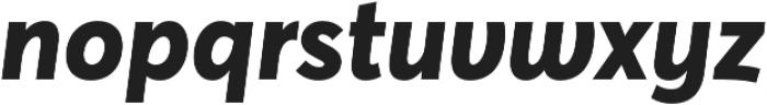 Averta Std CY Extrabold Italic otf (700) Font LOWERCASE