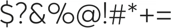 Averta Std Light otf (300) Font OTHER CHARS