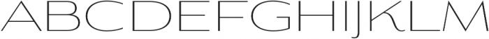 Aviano Contrast Thin otf (100) Font UPPERCASE