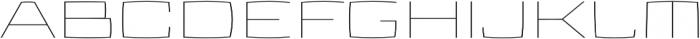 Aviano Future Thin otf (100) Font UPPERCASE