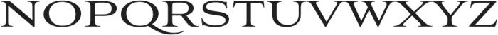 Aviano Regular otf (400) Font UPPERCASE