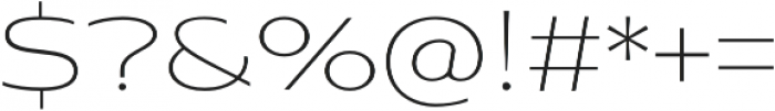 Aviano Sans Thin otf (100) Font OTHER CHARS