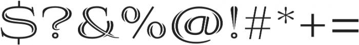 Aviano Silk Regular otf (400) Font OTHER CHARS
