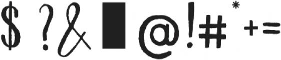 Avocado otf (400) Font OTHER CHARS