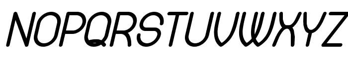 Available Italic Font UPPERCASE
