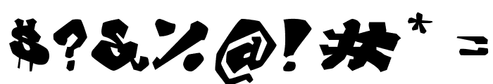 Avalon Old Skool Graff Font OTHER CHARS