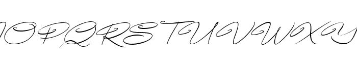 Avelana Thin Ital PERSONAL USE Font UPPERCASE
