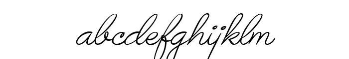 Avelana Thin Ital PERSONAL USE Font LOWERCASE