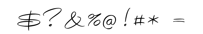 Avelana Thin PERSONAL USE Font OTHER CHARS