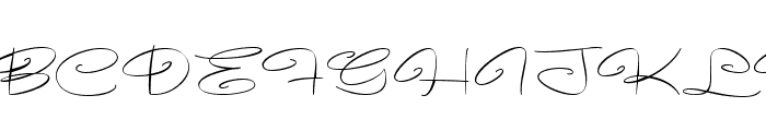 Avelana Thin PERSONAL USE Font UPPERCASE