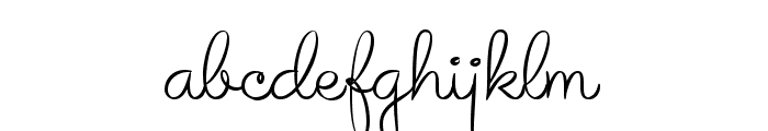Avelana Thin PERSONAL USE Font LOWERCASE
