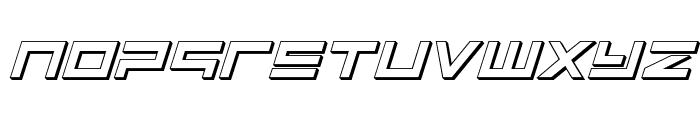 Avenger 3D Italic Font LOWERCASE