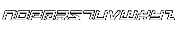 Avenger Engraved Italic Font UPPERCASE
