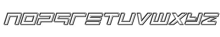 Avenger Engraved Italic Font LOWERCASE