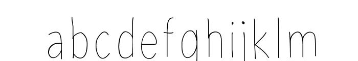 AvenirCondensedHand Font LOWERCASE