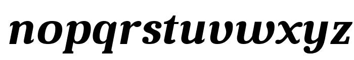 Aver Bold Italic Font LOWERCASE