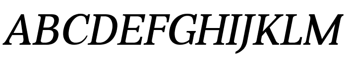 Aver Italic Font UPPERCASE