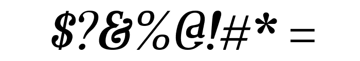 Aver Regular Italic Font OTHER CHARS
