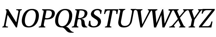 Aver Regular Italic Font UPPERCASE