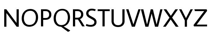 Average Sans Regular Font UPPERCASE