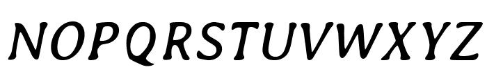 Averia-Italic Font UPPERCASE