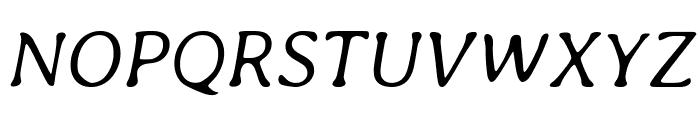 Averia Libre Light Italic Font UPPERCASE